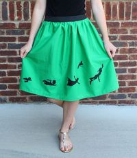 Less-Than-Perfect Life of Bliss: Easy Double Layer Elastic Waist Skirt plus so cute with the Peter Pan Silhouettes