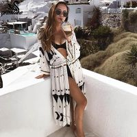 Embroidery Vintage Swimwear Cover up $26.62