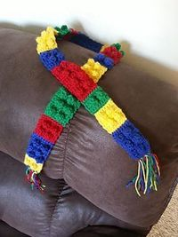 Lego scarf cute! And it looks easy :) for Olivia?