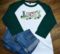 St. Patrick's Day Lucky Raglan Shirt $24.99