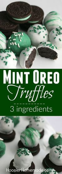 Mint Oreo Truffles- an easy treat for St. Patrick's Day!