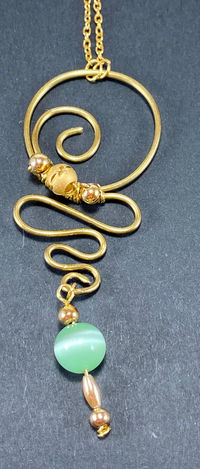 Gold Plated Necklace with Charm $20.00