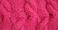 CUDDLE CABLE BABY BLANKET