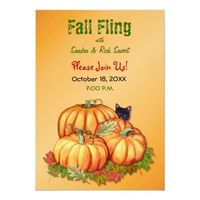 Autumn Bounty Fall Fling Invitation