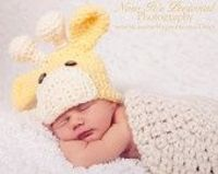 Crochet Hat PATTERN Baby Giraffe Beanie Hat PDF 175 - Newborn to Adult - Permission To Sell Finished Items - Photography Prop. $3.99, via Etsy.