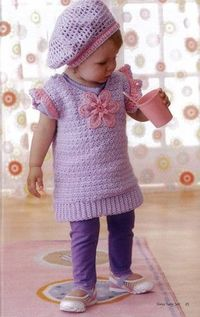 Cute girlie crochet outfit