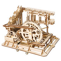 3D Wooden Puzzle Marble Run Sets-Assembly Magic Tracks DIY Toys Fantastic Model Birthday Gifts