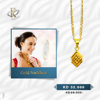 Add a dazzling touch of sophistication with this beautiful gold necklace.