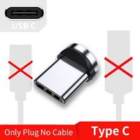 Magnetic Micro USB Type C Cable For iPhone Samsung Android Mobile Phone Fast Charging $6.99