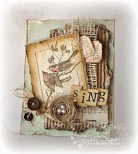 Lovely textured layers here - 'Sing' card