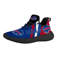 Custom Sneakers, Newest Buffalo Bills Printed 2 Designs Black n White Sole, Handmade Shoes, Mens Sneakers, Running Shoes, Yezzy Style,