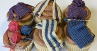 These are pretty impressive knitting cupcakes. All edible? Well done.