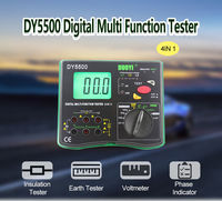 DUOYI DY5500 4 in 1 Digital Multi-function Tester Multimeter - Insulation Resistance Tester + Earth Tester + Voltmeter + Phase Indicator