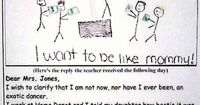 HILARIOUS! Top ten reasons you should always review your tot's homework before they turn it in...