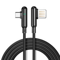 CAFELE 3A Type C Quick Charging 90 Degree Double Elbow Nylon Braided Data Cable For Oneplus 7 HUAWEI P30 Mate20 XIAOMI MI9 S10 S10+