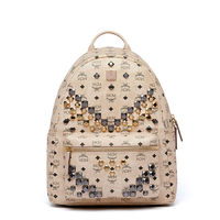MCM Medium Stark M Odeon Studs Backpack In Beige