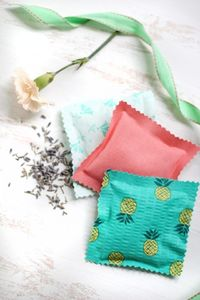 Sachets made with rice and lavender oil. I wonder if mint extract would work as well.