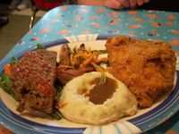 50's Prime Time Cafe! Pot Roast, Fried Chicken and Meatloaf!