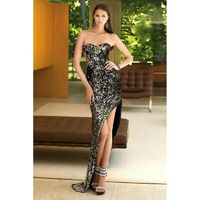 Alyce Paris - Strapless Sequined Sweetheart Asymmetrical High-Low Dress 6079 - Designer Party Dress & Formal Gown