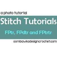 Follow these detailed photo tutorials to learn how to crochet these post stitches! The FPtr, FPdtr and FPtrtr Stitch Tutorials are shown step by step.