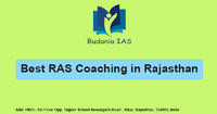 Budania IAS is the Best RAS Coaching in Rajasthan because this provides experienced faculty, updated study material, online platform etc. to the students for to get success in Rajasthan Administrative Services. Know more Call: +91-961-024-5444, +91-961-02...