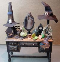 witch vanity, I may be able to recreate for dollhouse