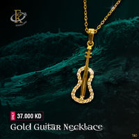 Rock with this stylish gold electric guitar pendant necklace. �–� Product type: Gold Necklace  �–� Price: 37.000KD �–� Weight: 1.800 Grams �–� Free Delivery �–� Karat: 18 Karat �–� Part Number: FKJNKL1492 �œ...