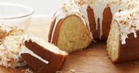 Ridiculously easy coconut pound cake. They have lemon, lime, and chocolate swirl versions, too. So easy. Maybe not healthy, but easy.