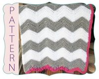 Chevron baby blanket pattern crochet - gray and white with maybe a light green edging and totoro inspired?
