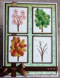 another great card from Debby...four seasons tree done with punched leaves and flowers...beautiful and creative...