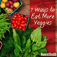 Struggling to eat five servings of vegetables a day? Learn 7 new ways to get more produce on your plate: http://www.womenshealthmag.com/nutrition/eat-more-veggies?cm mmc=pinterest- -womenshealth- -content-food- -eatmoreveggies