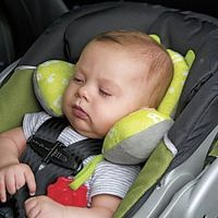 """One poster said: """"In my decade of parenting, I have tried every travel pillow under the sun. This is my fav, keeps my toddler's head from falling forward. True to size for age as listed on the website, fyi. I own one of every size for all 3 kids. ..."""
