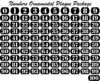 Numbers Plaque Ornamental square Just for: $19.00