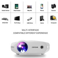 CRENOVA Newest LED Projector For Full HD 4K 2K Video Projector Android 7.1.2 OS Home Cinema Movie Beamer Proyector