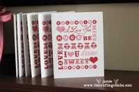 Valentines Day Word Art and Notecards are the perfect way to show family and friends you love them. Print these out to write a note or frame for a gift.