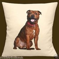 Staffie Cushion and Cover Dog Sofa Home Decor Gift