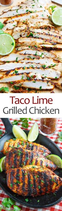 A quick and easy taco lime grilled chicken that's just packed with flavour!