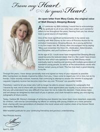 Mary Costa Letter