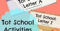 Tot School Activities for every letter of the alphabet!