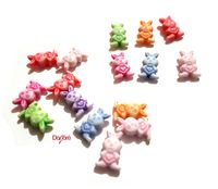 Pack of 100 Assorted Colours Acrylic Bunny Rabbit Spacer Beads. Animal Charms. 12mm x 8mm £7.09