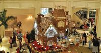 Life-Sized Gingerbread House at Grand Floridan, Disney World by Angie [A Whole Lot of Nothing], via Flickr