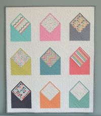 Hyacinth Quilt Designs: Envelope Quilt! Now how cute is this? I might need to make one as I do so love to get mail!