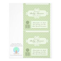 Baby Shower Custom Candy Bar Wrappers Green