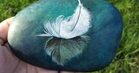 ��—� �™� �™� ��—� Painting on a rock