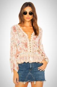 V Neck puff long Sleeve blouse $25.99
