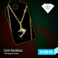 Add some wide embellishment to your neck with this Gold Necklace. �–� Product type: Gold Necklace  �–� Price: 28KD �–� Weight: 1.200 Grams �–� Free Delivery �–� Karat: 18 Karat �–� Part Number: FKJNKL1169 �œ...