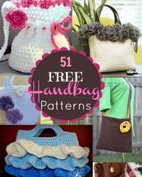 51 Free Handbag and Purse Patterns and Tutorials. Beginner to advanced! Something for everyone. sewlicioushomedecor.com #purse