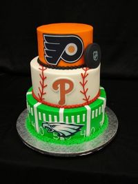I know this will never be possible, but this cake kicks butt and I wish there was a way we could incorporate their sports teams into the party