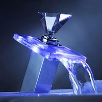 Shop our selection of LED Lighted, Bathroom Faucets in the Bath Department at FancyBathFixtures. Buy Luxury Glass Basin LED Faucet Color Changing Bathroom.