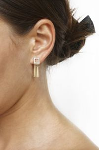 Square Pixie Crystal Dangle Earrings �'�31.99